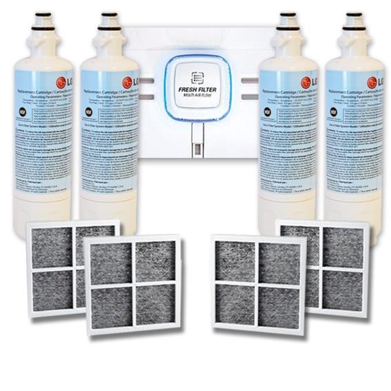 4 Pack of ADQ36006101 LT700P with 4x LG LT120F  ADQ73214404  Air filter