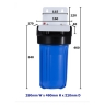 10″ Big Blue Single High Flow Rate Filter Housing Whole System, 5 Micron CTO Carbon Block Filter