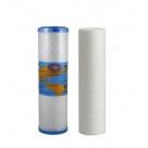 "Undersink Twin Water Filter Replacement Omnipure Carbon Block+ SED Cartridge 10"""