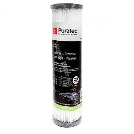Puretec PL201 Pleated Sediment Water Filter Cartridge 2.5 x 10 inch 20 Micron