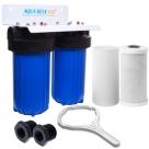 AQUA BLUE H20  30LPM MAX WHOLE HOUSE DUAL FILTER SYSTEM
