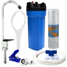 Whole House Water System with Omnipure OMB934 5 Mic, Reverse Osmosis Faucet, Connection Kit Set