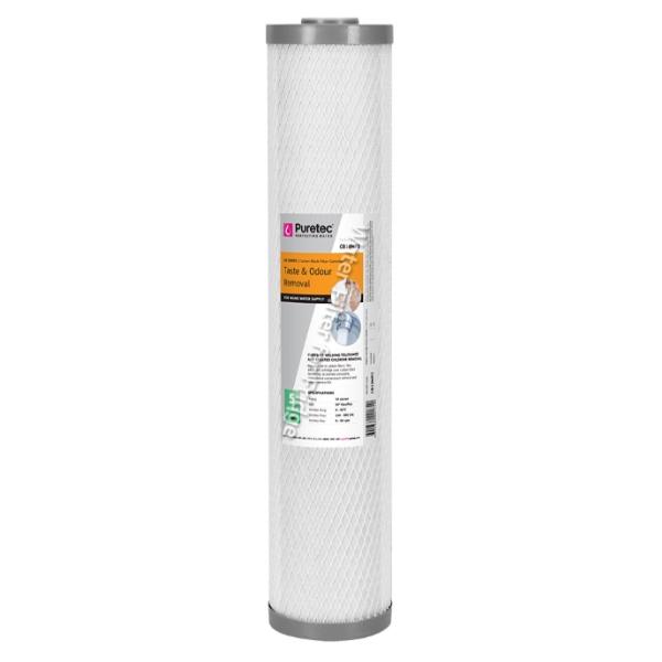 "Puretec CB05MP2 Carbon Block Water Filter Cartridge 4.5x20"" 5 Micron"