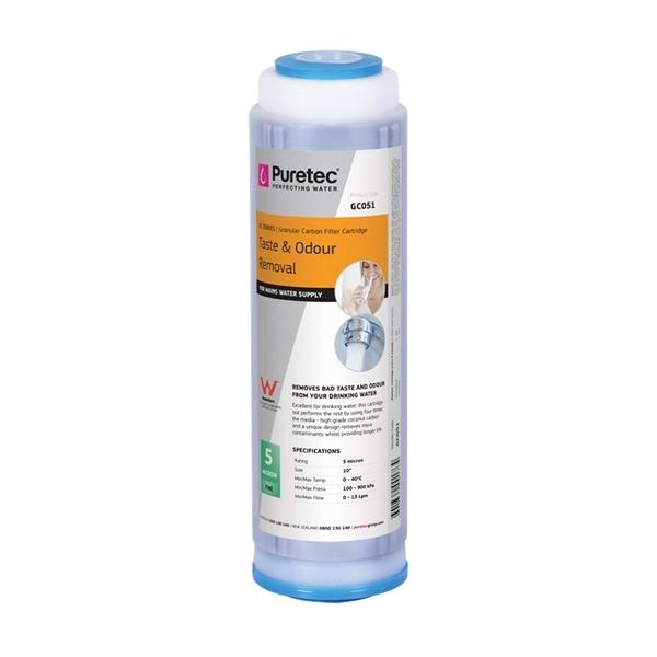 Puretec GC051 Granular Carbon Water Filter Cartridge 2.5 x 10 inch 5 Micron