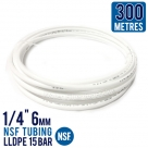 "300 Metres Icemaker Water Filter Pipe Tube Hose 1/4"" 6mm NSF Tubing LLDPE 15 Bar"
