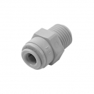 "MALE CONNECTOR - 1/4"" tube x 3/8"" NPTF ORIGINAL DM FITTING"