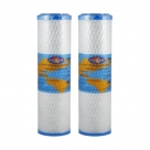2X Omnipure OMB934 0.5 Micron Coconut Carbon Block Water Filter 10""