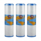 3X Omnipure OMB934 0.5 Micron Coconut Carbon Block Water Filter 10""