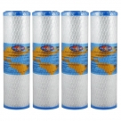4X Omnipure OMB934 0.5 Micron Coconut Carbon Block Water Filter 10""