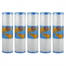 5X Omnipure OMB934 0.5 Micron Coconut Carbon Block Water Filter 10""