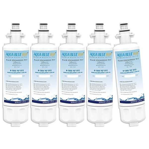 5x LG LT700P  ADQ36006101 Refrigerator Water Filter By Aqua Blue H20