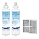 2x LG Replacement Water Filter LT700P + LT120F Generic Air Filter