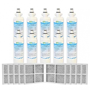 10x LG Replacement Water Filter LT700P + 10x LT120F Generic Air Filter