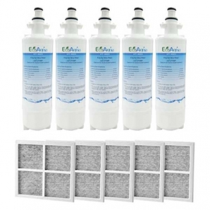 5x LG Replacement Water Filter LT700P + 5x LT120F Generic Air Filter