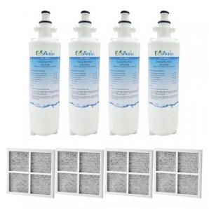 4x LG Replacement Water Filter LT700P + 4x LT120F Generic Air Filter