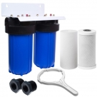 AQUA BLUE H20 30LPM MAX WHOLE HOUSE DUAL FILTER SYSTEM