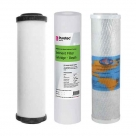 Undersink Water Filter Cartridges Doulton W9220406, Puretec MB011, Omnipure OMB934 5 MIC - Complete Set