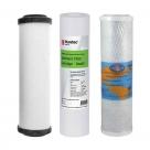 Undersink Water Filter Cartridges Doulton W9220406, Puretec MB011, Omnipure OMB934 5 MIC - Complete Set