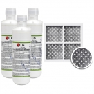 3x LG LT1000P MDJ64844601 ADQ74793501 water filter with LG fridge air filter LT120F ADQ73334008