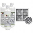 3x LG LT1000P MDJ64844601 ADQ74793501 water filter with LG fridge air filter LT120F ADQ73334008