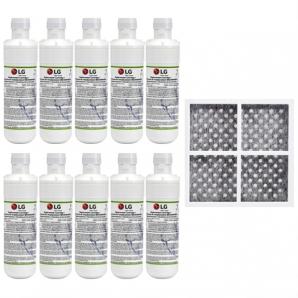 10x LG LT1000P MDJ64844601 ADQ74793501 water filter with LG fridge air filter LT120F ADQ73334008