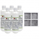5x LG LT1000P MDJ64844601 ADQ74793501 water filter with LG fridge air filter LT120F ADQ73334008