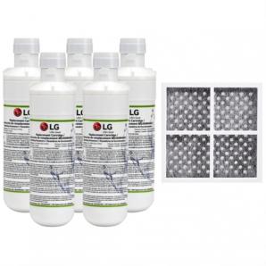 5x LG LT1000P MDJ64844601 ADQ74793501 water filter with LG fridge air filter LT120F ADQ73334008