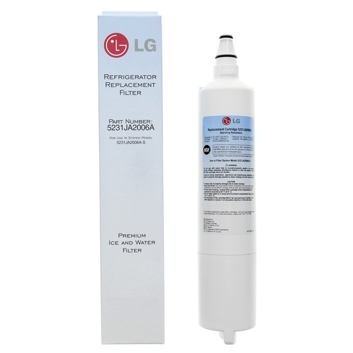 LG 5231JA2006A-S, LT600P Genuine Fridge Water Filter 5231JA2006F