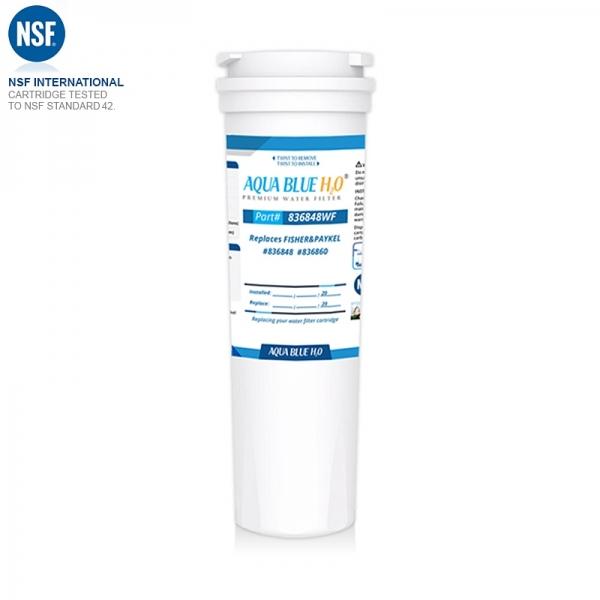 3x Fisher Paykel Aqua Blue H2O  Water Filter Cartridge 836848  REPLACE AQP-FF17A