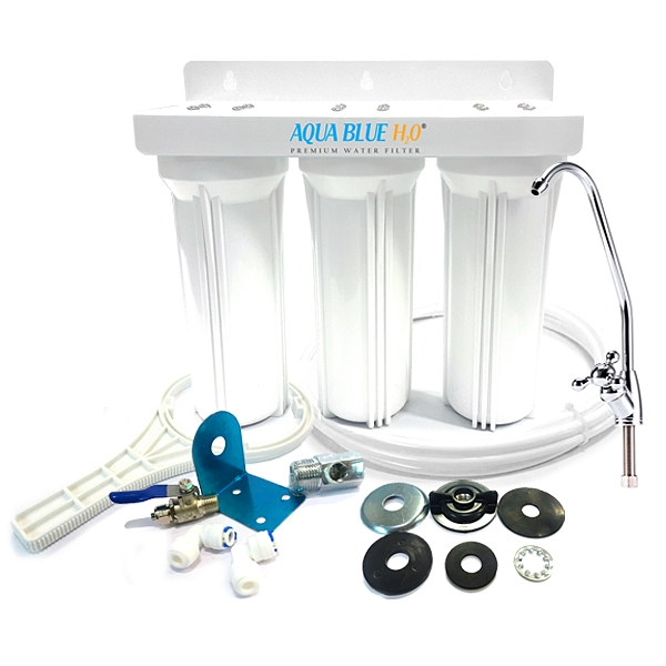 Undersink Untreated Water Filter System Ceramic -PP- Carbon 3 Stage