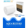 Aqua Blue h20 Shower Water Filter & Rose Complete Set SF350ARM-A