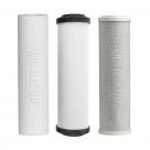 Undersink 3 Stage Water Cartridges W9220406 Doulton Ceramic Filter, Sediment, Carbon Block 10inch - Complete Set