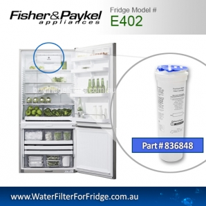 Fisher & Paykel 836848 for E402 Genuine Fridge Water Filter