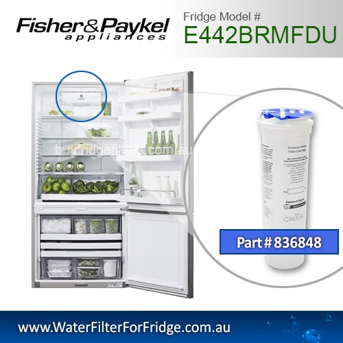 Fisher & Paykel 836848 for E442BRMFDU Genuine Fridge Water Filter
