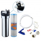 Omnipure  1 Micron  Chrome  Undersink  Drinking Water Filter System