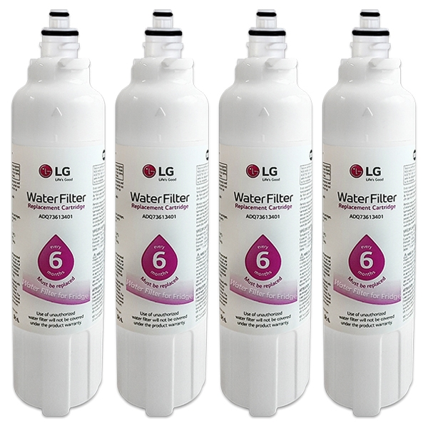 4x LG ADQ73613401 / LT800P Genuine Fridge Filter