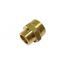 BRASS Hex Reducing Nipple 20 x 15mm (3/4 x 1/2 Inch)