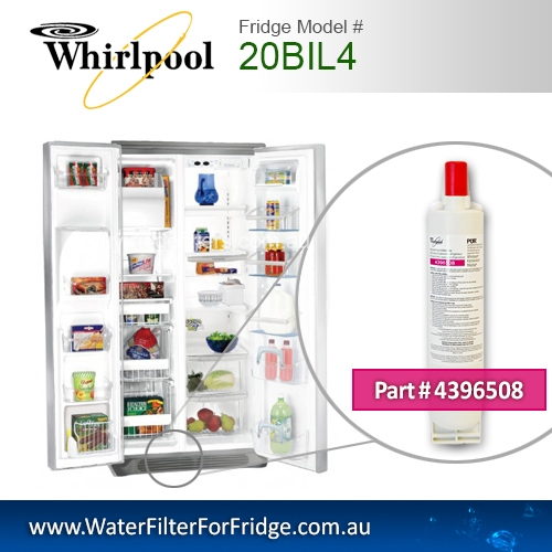 20BIL4 Whirlpool fridge filter replacement number 4396508/8212652