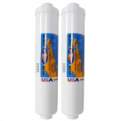 "2X Omnipure K2540 BB GAC Carbon Water Filter 1/4"" NPTF Female"