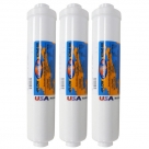 "3X Omnipure K2540 BB GAC Carbon Water Filter 1/4"" NPTF Female"