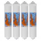 """4X Omnipure K-Series K5550 JJ Inline Water Filters GAC 10″ x 2.5"""""""