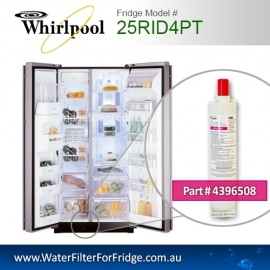 25RID4PT Whirlpool fridge filter replacement number 4396508/8212652