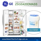 REPLACEMENT  FILTER FOR PSE29NHTACSS  GE SmartWater MWF Refrigerator Water Filter