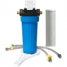 "Single Water Filter System for Homes and Offices 10""X2.5"" CTO Carbon Block Filter"