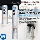 Under-sink water purifier system PF2+CB6