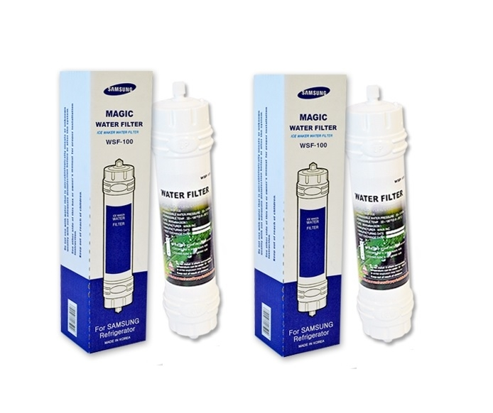 2X Samsung WSF-100 HAFEF Magic External Fridge Water Filter (Replaced with DA29-10105J)