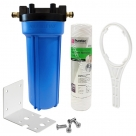 Single Caravan Water Filter System with Puretec Wound Sediment WD501, Brass Hose Connection Fitting