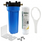 Single Caravan Water Filter System with 3M Raindance String Wound SPF-P5, Brass Hose Connection Fitting