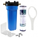 Single Caravan Water Filter System with Puretec Pleated Sediment PP011, Brass Hose Connection Fitting