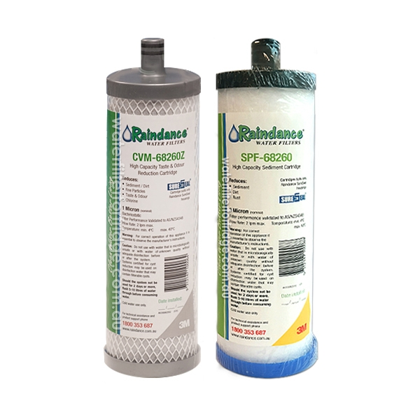 Raindance Sure Seal  Carbon  and  Sediment   Set - Genuine Raindance CVM68260 + SPF 68260 filters
